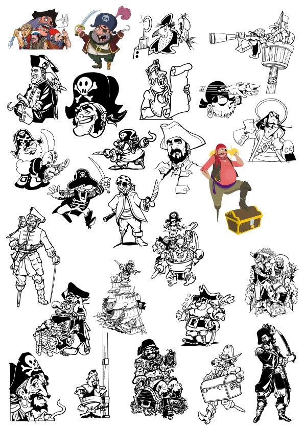 Pirates Vector Set Free CDR Vectors Art