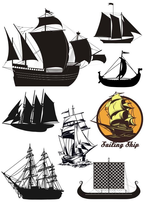 Ships Vector Set Free CDR Vectors Art