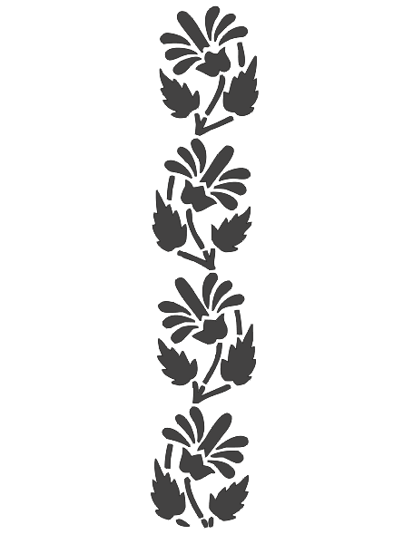 Carving Flower Stencil Silhouette Wall Art Pattern Free DXF File