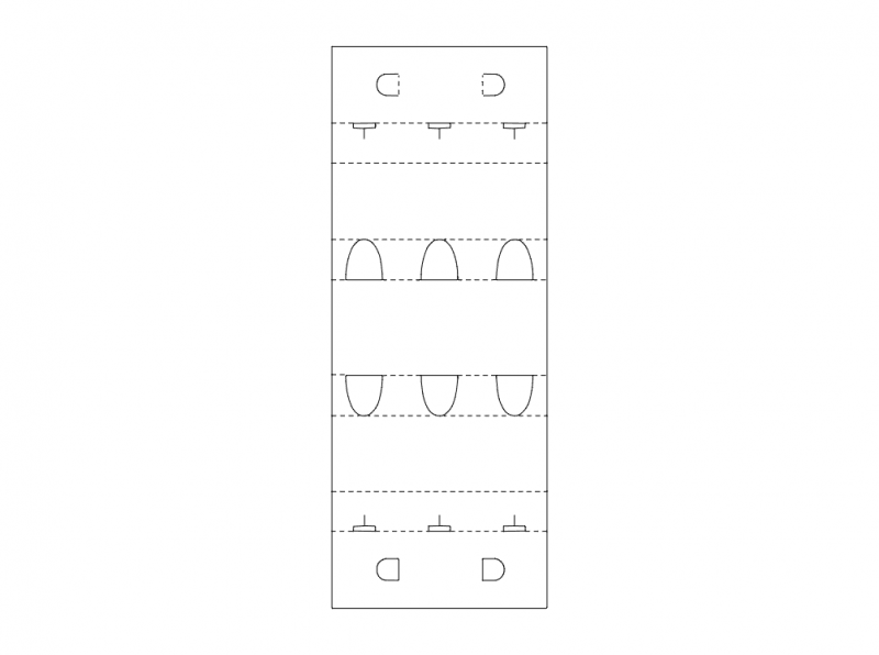 Box Cutout Design Free DXF File