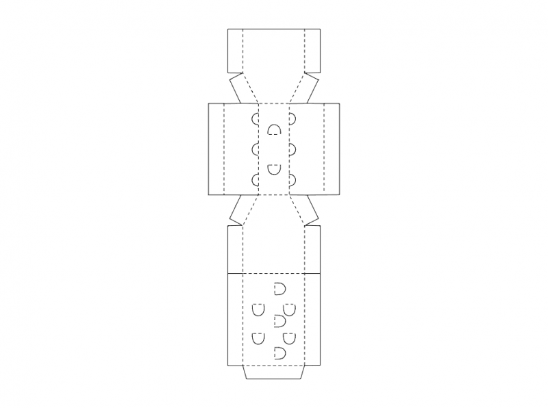 Cardboard Box Design Free DXF File
