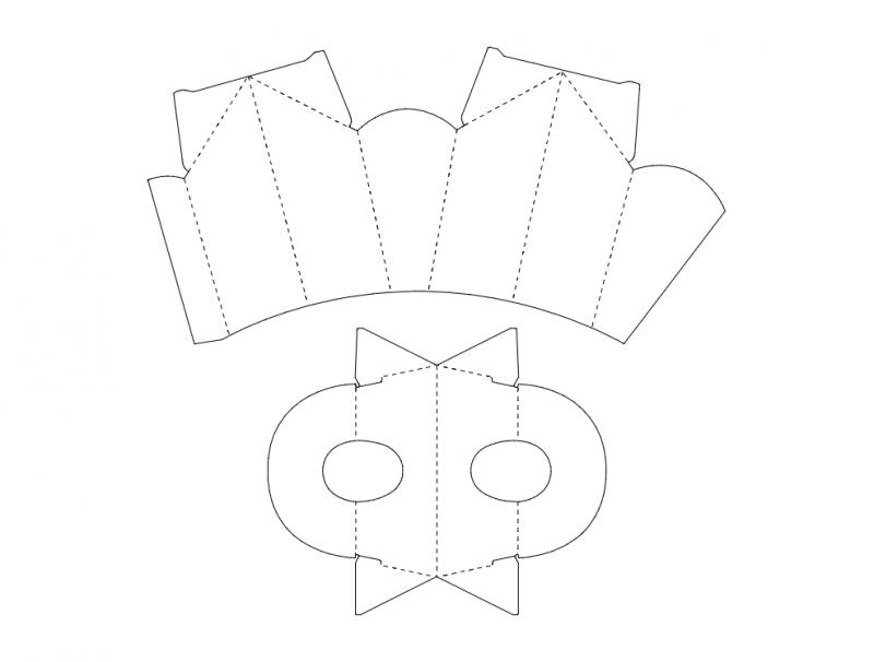 Cardboard Box Template Free DXF File
