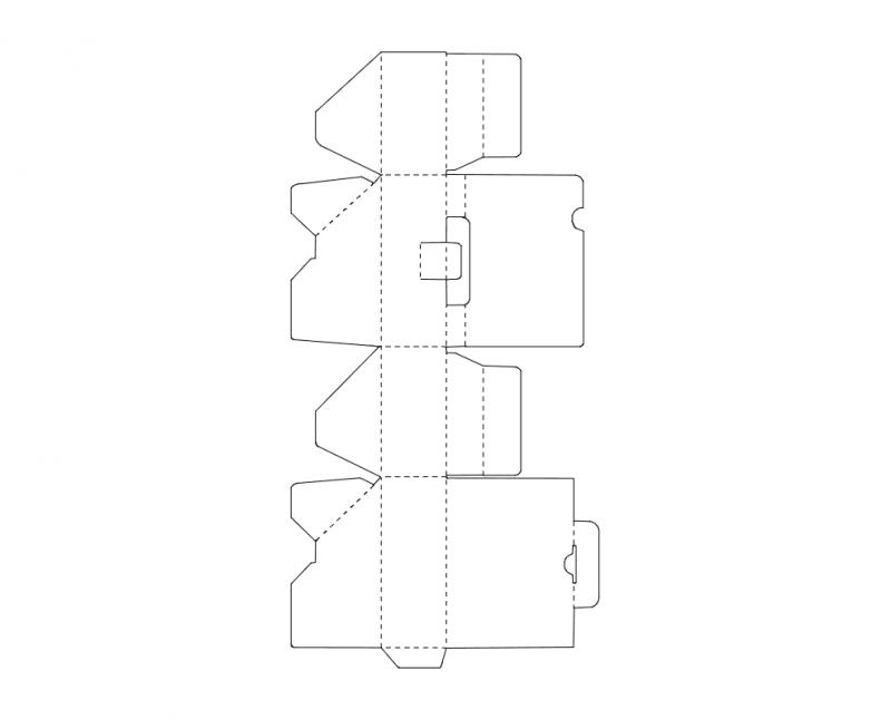 Cardboard Box Free DXF File