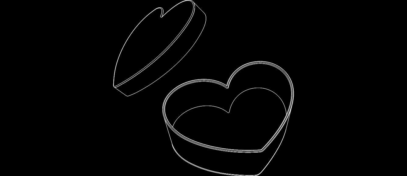 Heart Box Free DXF File