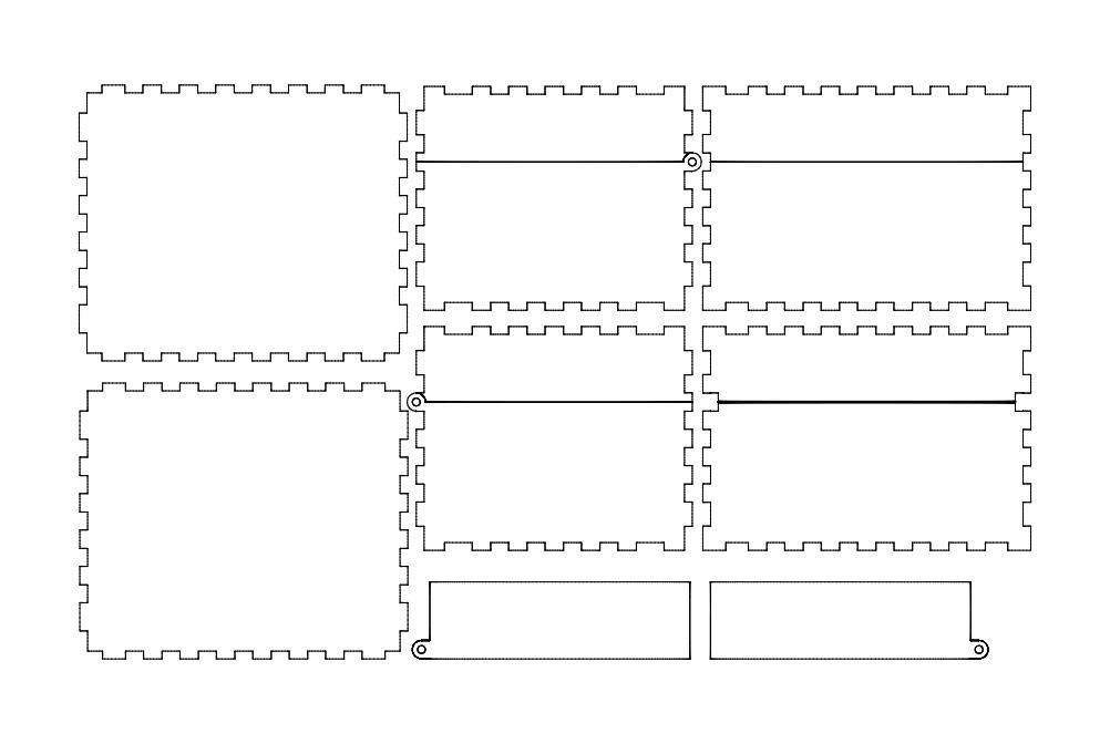 Hinged box Free DXF File