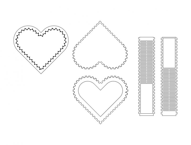 Kalpl Kutu (heart Box) Free DXF File