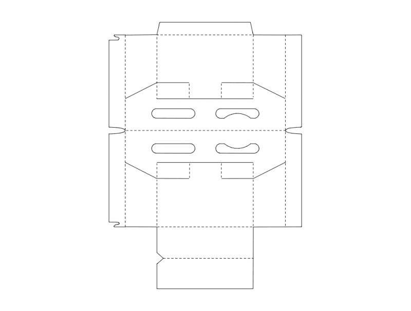 Package Box Free DXF File