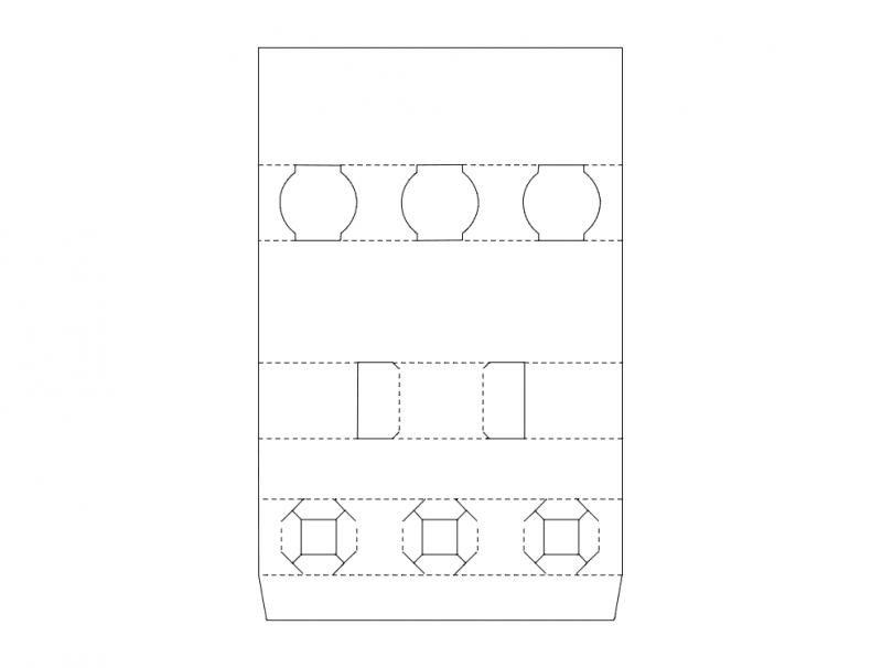 Packing Box Design Free DXF File