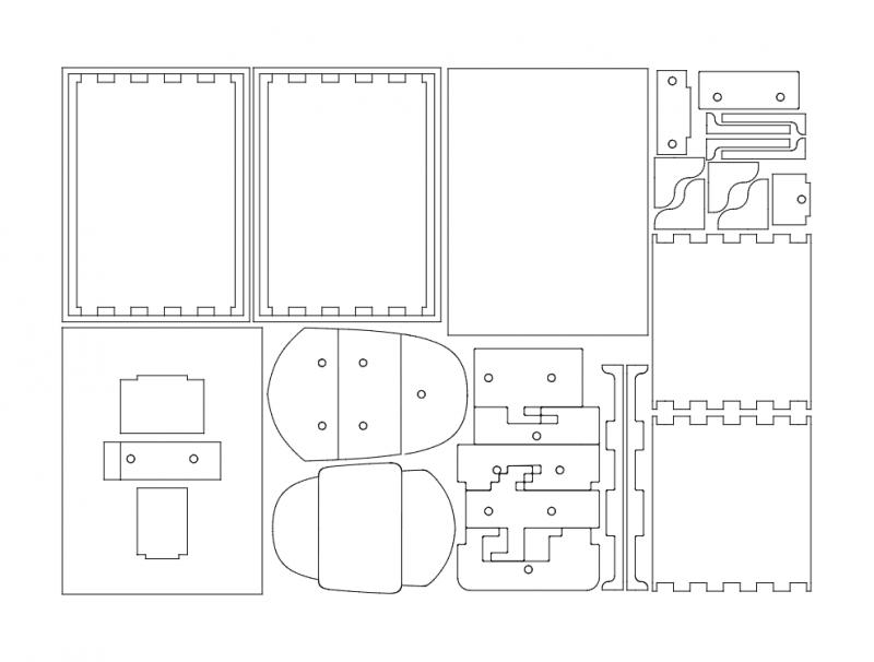 Simple Shield Box Free DXF File
