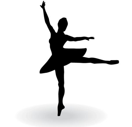 Ballerina Silhouette Vector Clip Art Free CDR Vectors Art