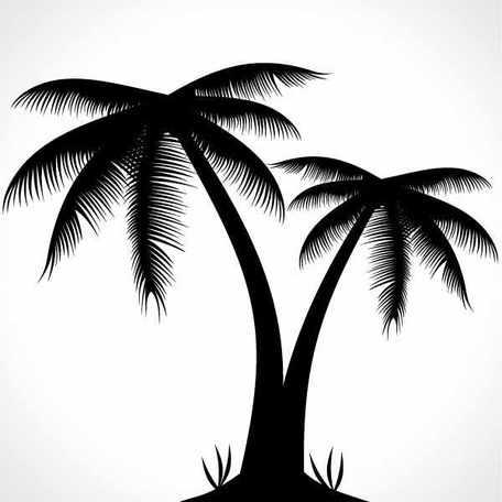 Palm Tree Silhouette Clip Art Free CDR Vectors Art