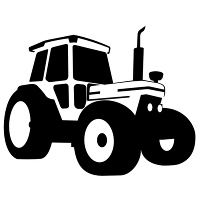 Silhouette Traced Tractor Vehicle Clip Art Free CDR Vectors Art