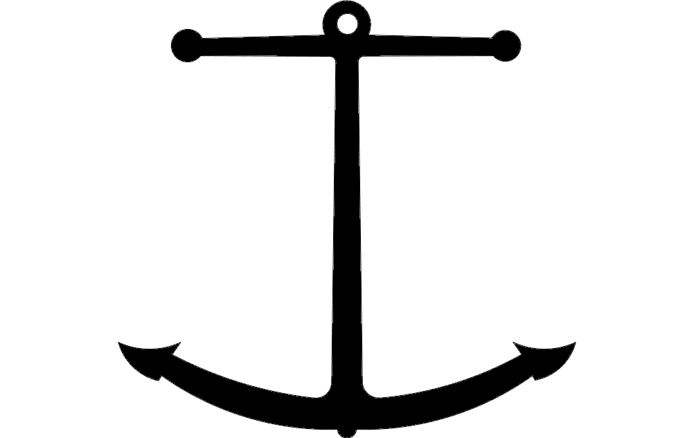 Anchor Silhouette Design Free DXF File