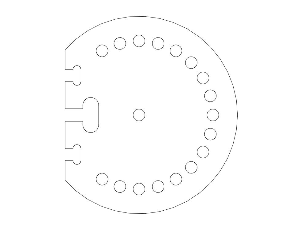 Angle mount-base Tool Free DXF File