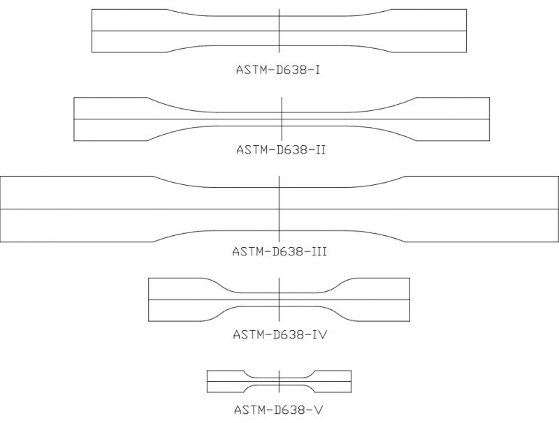 Astm d638 Drawing Free DXF File