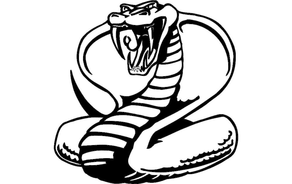 Cobra Template Cnc Laser Cut Free DXF File