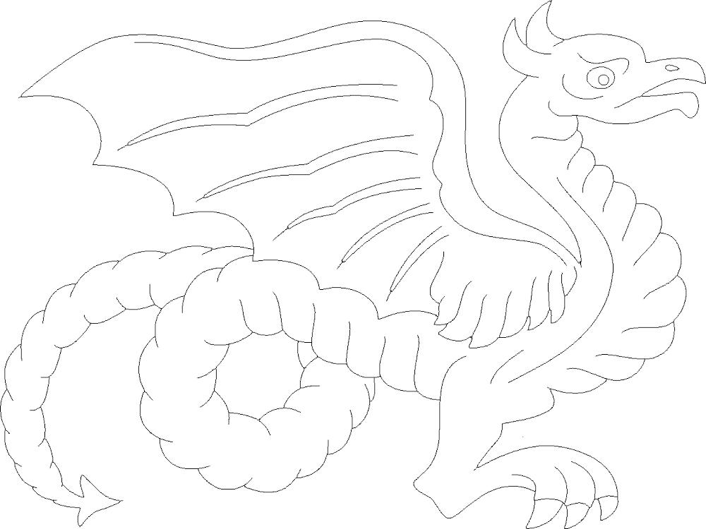 Dragon Eyes Drawing Free DXF File