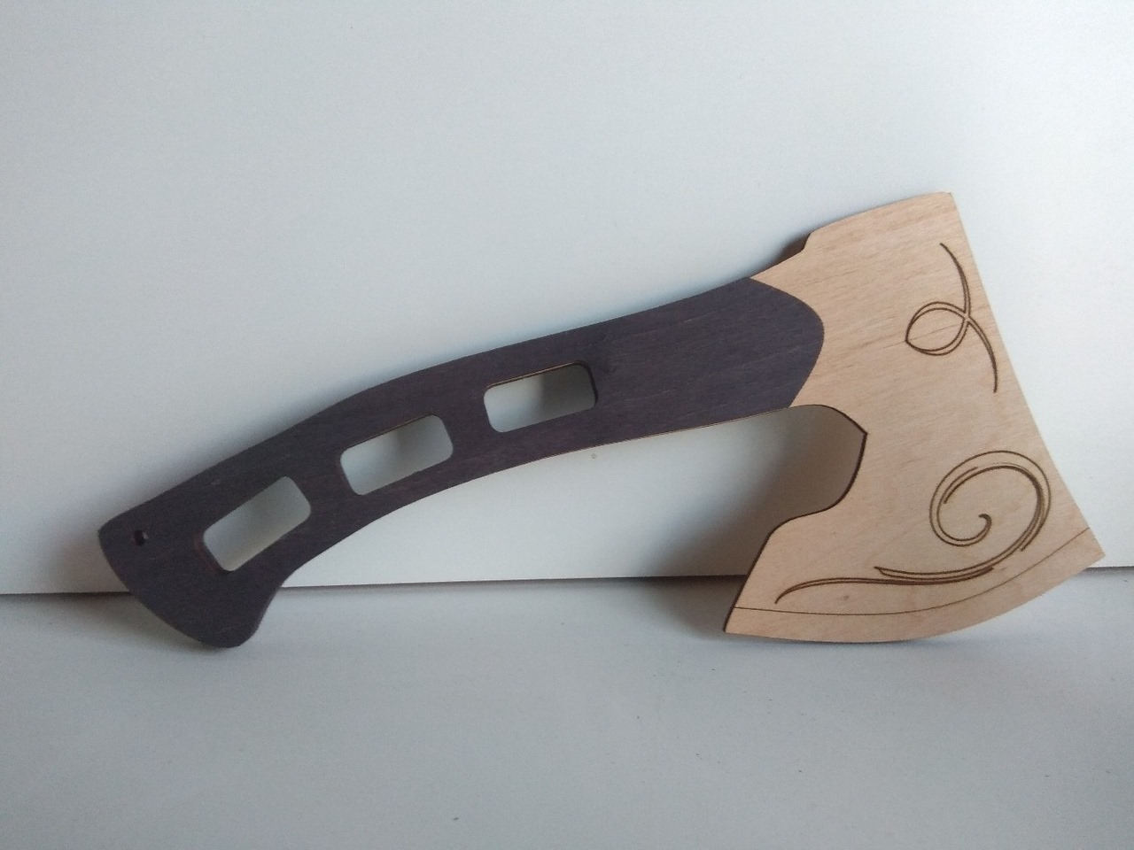 Laser Cut 3d Wooden Axe Free DXF File