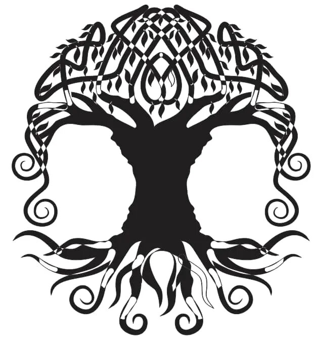 Laser Cut Files Family Tree Silhouette 11 Free DXF File