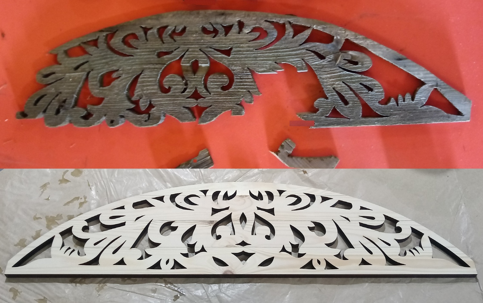 Laser Cut Wooden Platband Design 10mm Free DXF File