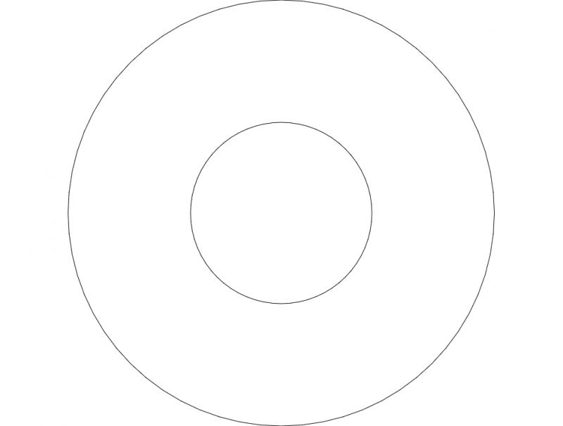 Washers Sketch Free DXF File