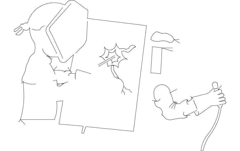Welder Welding Work Drawing Free DXF File