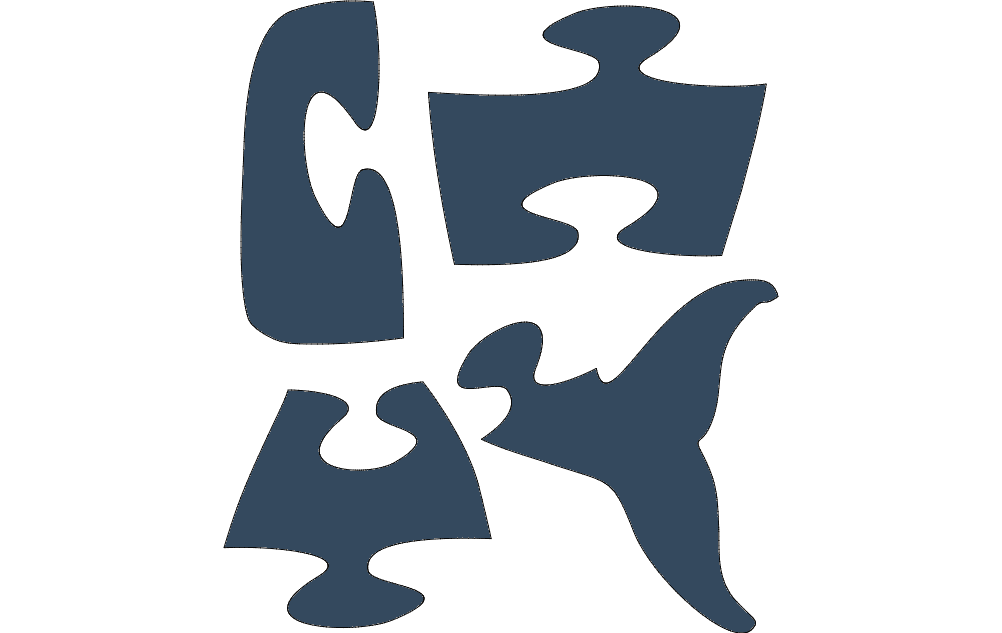 Whale Jigsaw Puzzles Free DXF File