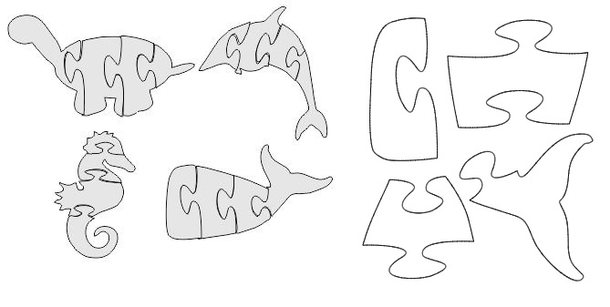 Whale Jigsaw Whale Puzzle Free DXF File