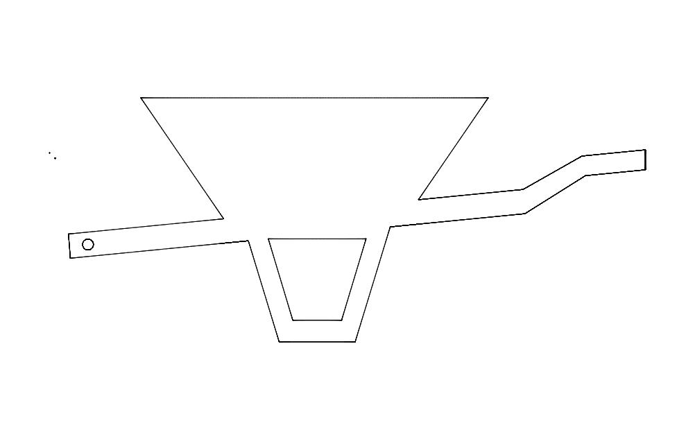 Wheel Barrow Sketch Tools Free DXF File