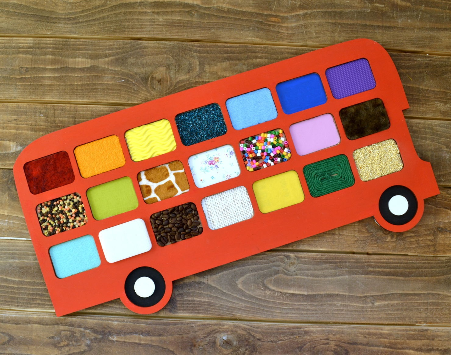 Bus Tactile Game Touch And Match Game Free CDR Vectors Art