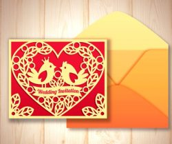 Cnc Laser Cut Template And Envelope With The Flat Design Free CDR Vectors Art
