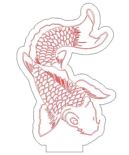 Fish Led Illusion Free CDR Vectors Art