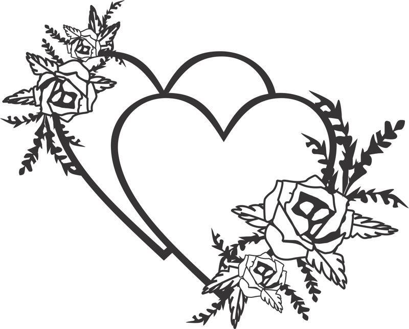 Heart Flower Wedding Card Design Free CDR Vectors Art