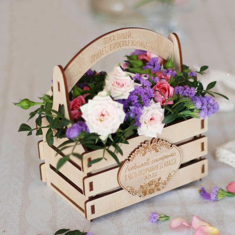 Laser Cut Flower Basket Free DXF File