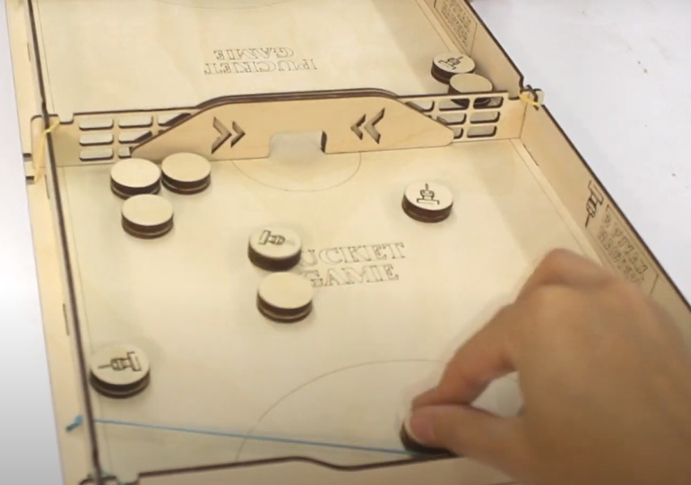 Laser Cut Pucket Game Board Game Free DXF File