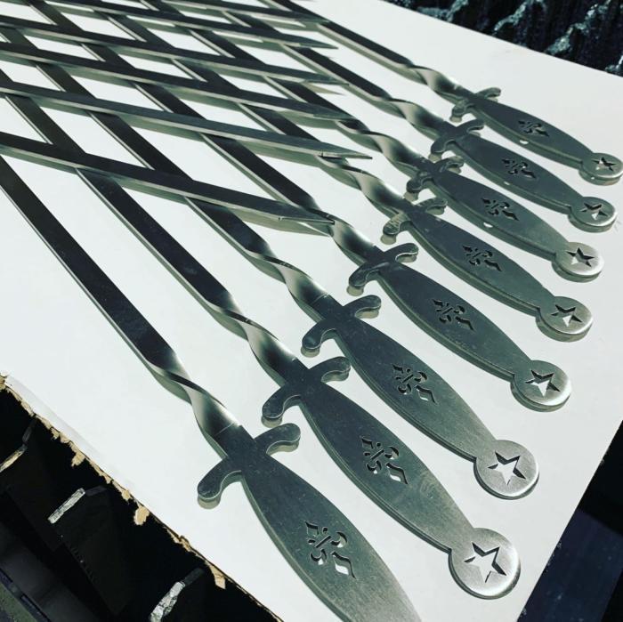 Laser Cut Skewer épée Fencing Stainless Steel 3mm Free DXF File