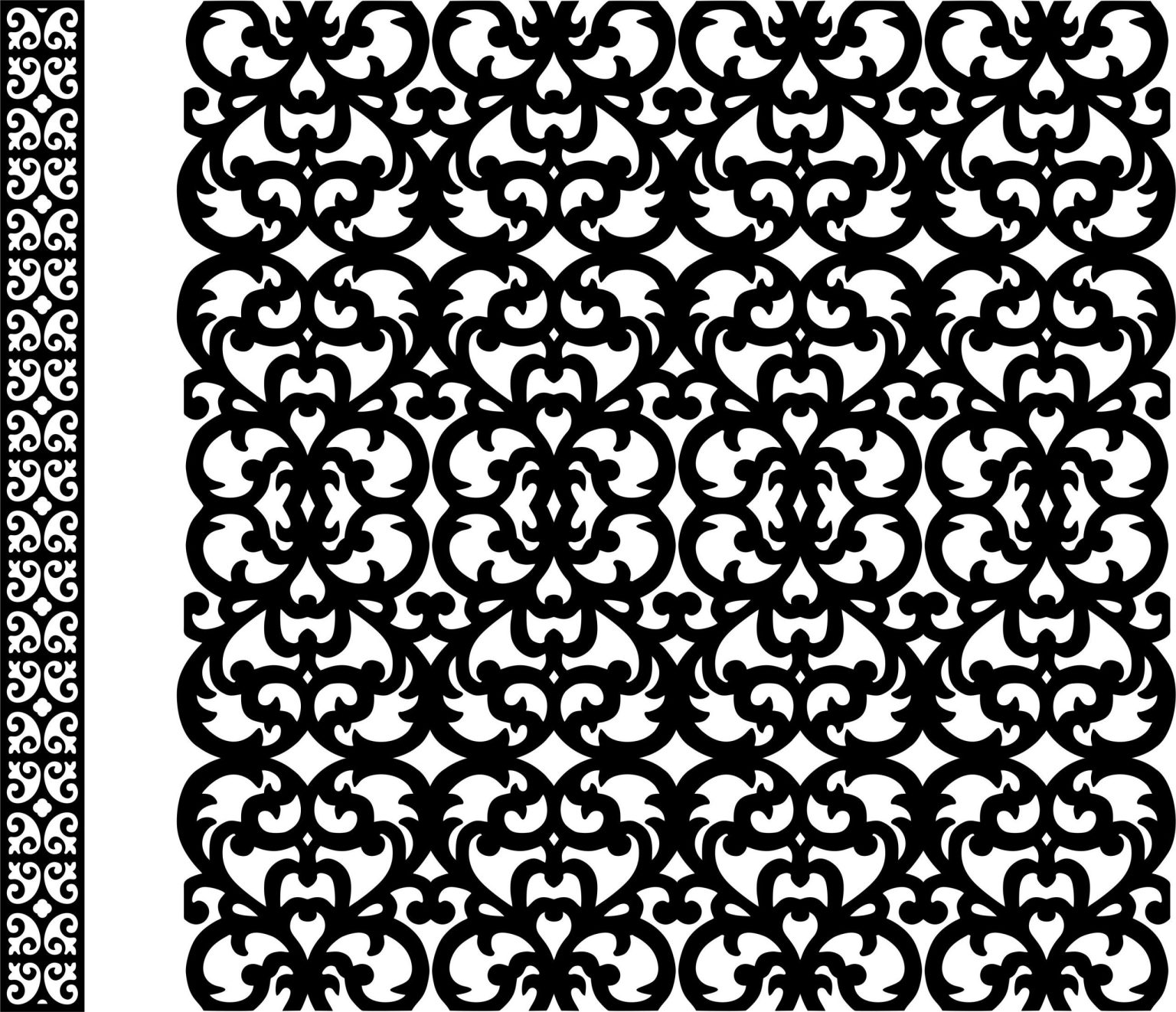 Decorative Screen Patterns For Laser Cutting 2 Free DXF File