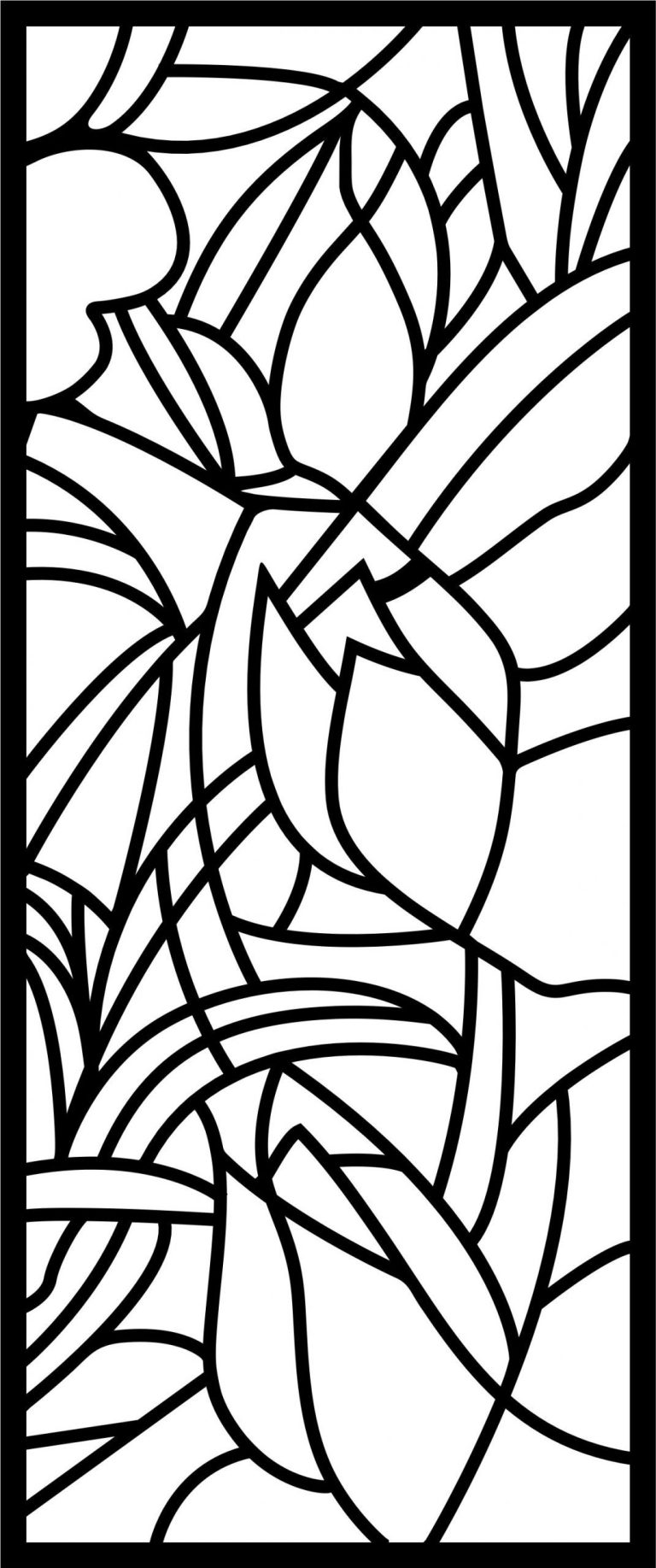 Decorative Screen Patterns For Laser Cutting 5 Free DXF File