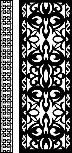 Decorative Screen Patterns For Laser Cutting 6 Free DXF File