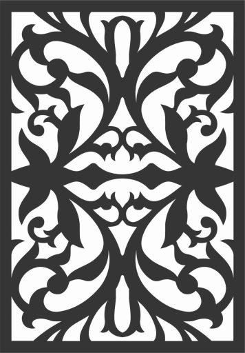 Decorative Screen Patterns For Laser Cutting 8 Free DXF File