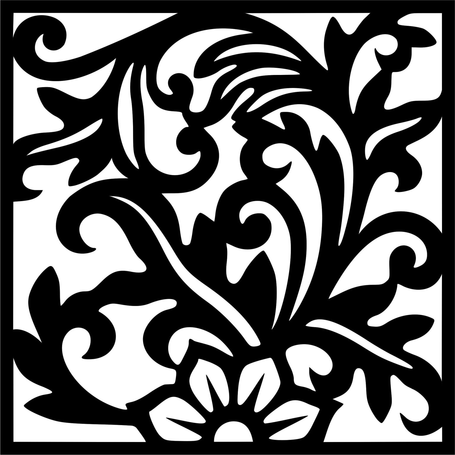 Decorative Screen Patterns For Laser Cutting 12 Free DXF File