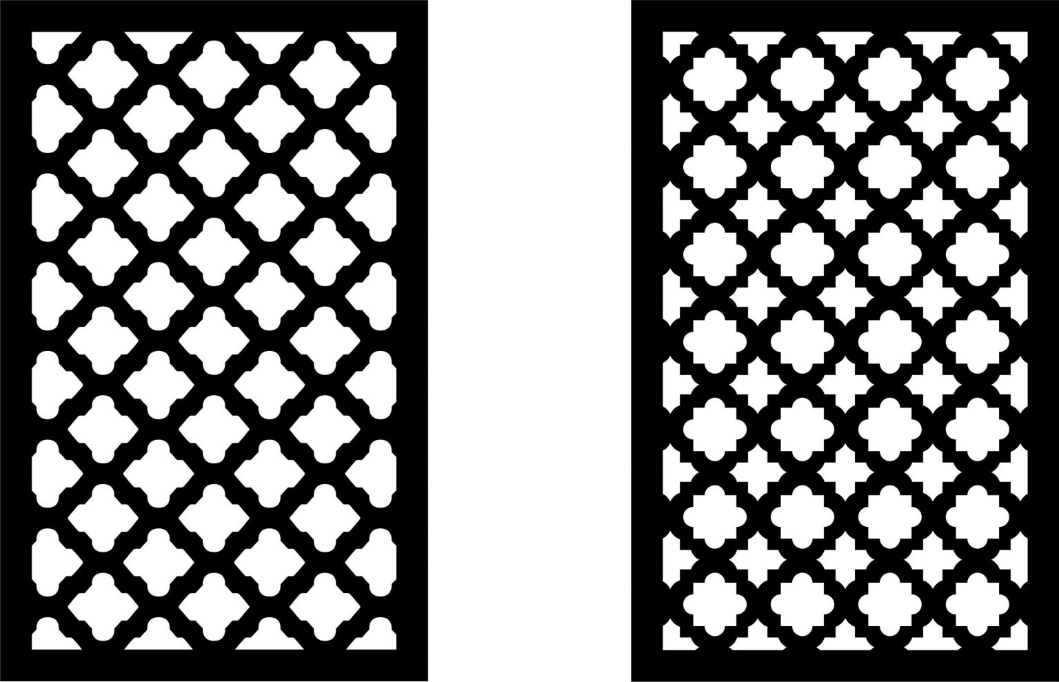 Decorative Screen Patterns For Laser Cutting 15 Free DXF File