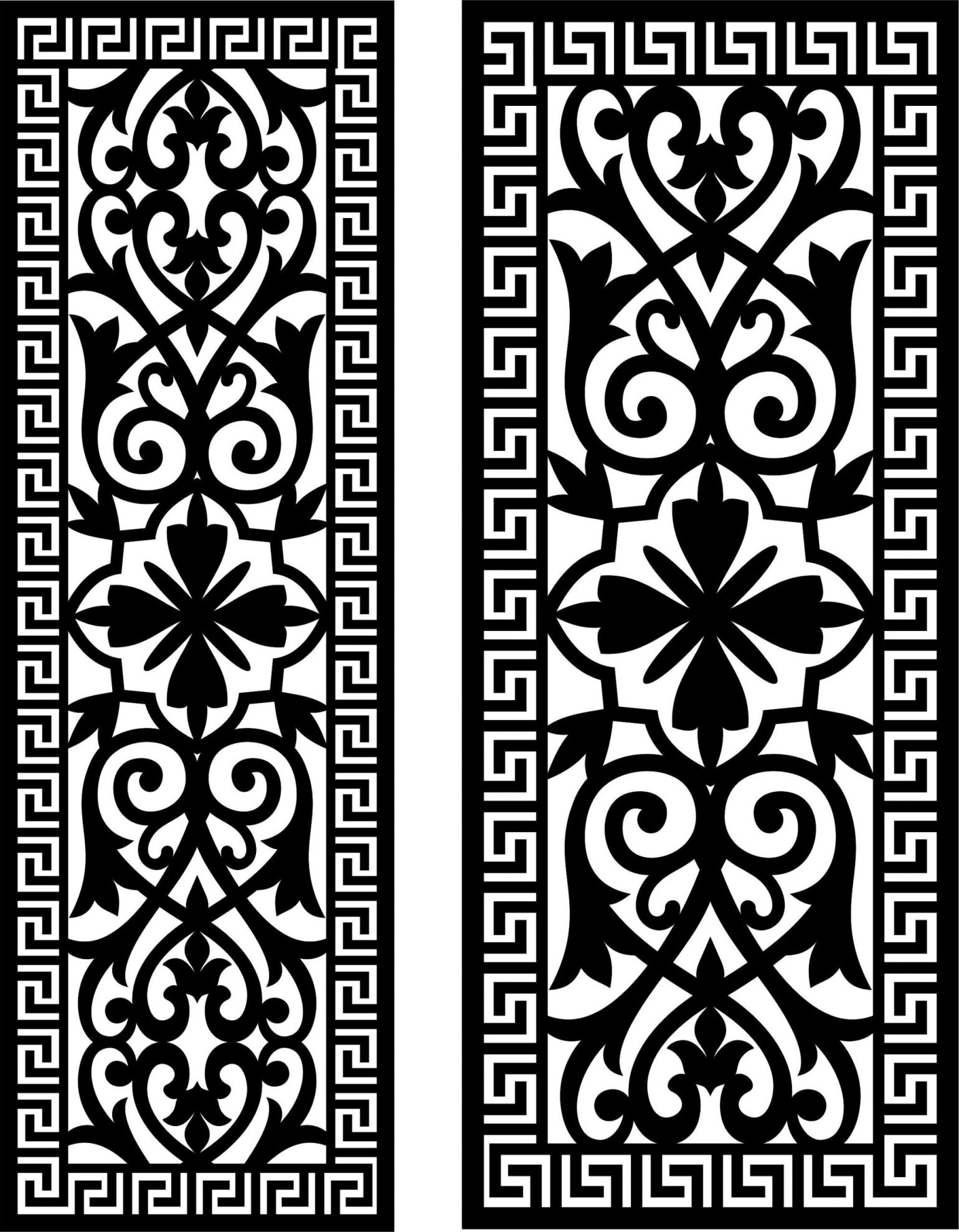Decorative Screen Patterns For Laser Cutting 26 Free DXF File