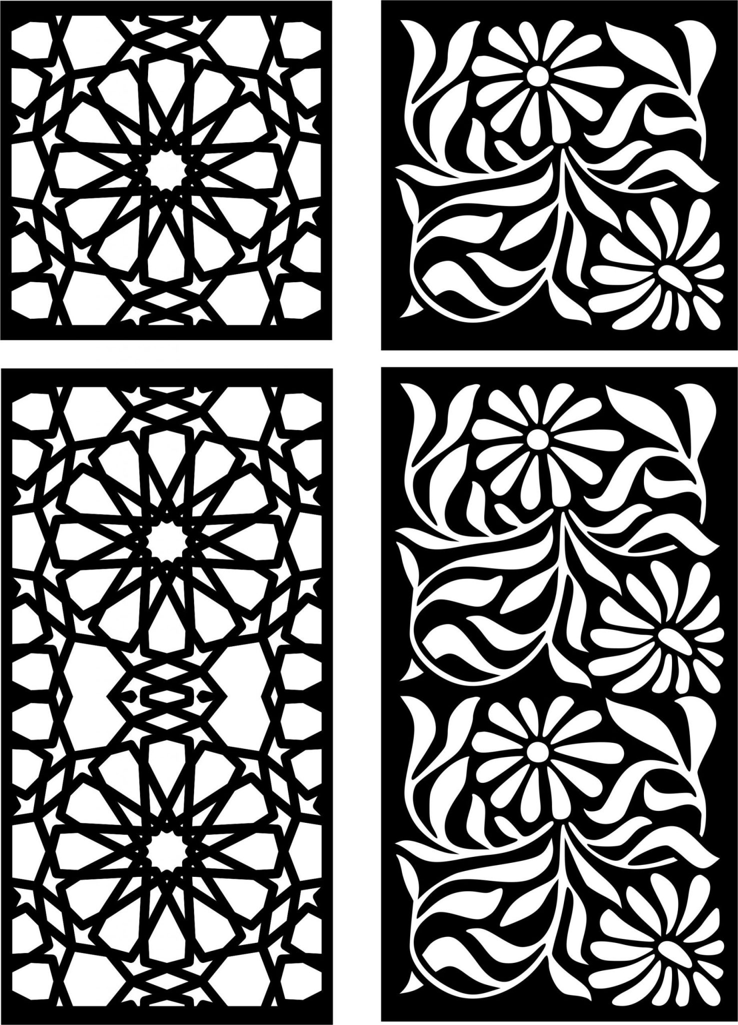 Decorative Screen Patterns For Laser Cutting 27 Free DXF File