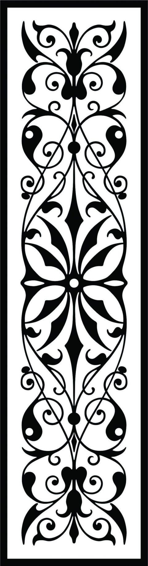 Decorative Screen Patterns For Laser Cutting 36 Free DXF File