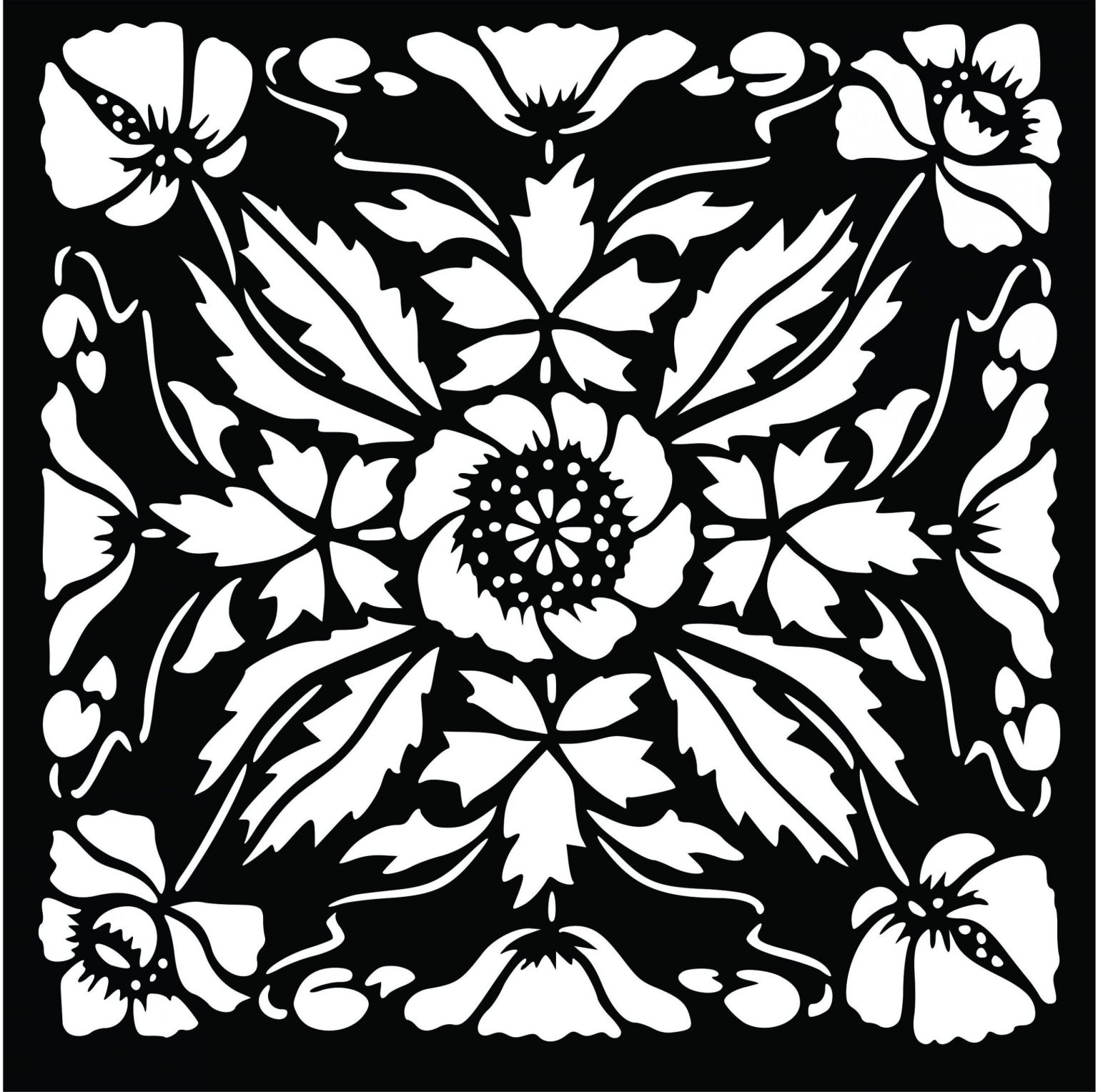 Decorative Screen Patterns For Laser Cutting 37 Free DXF File