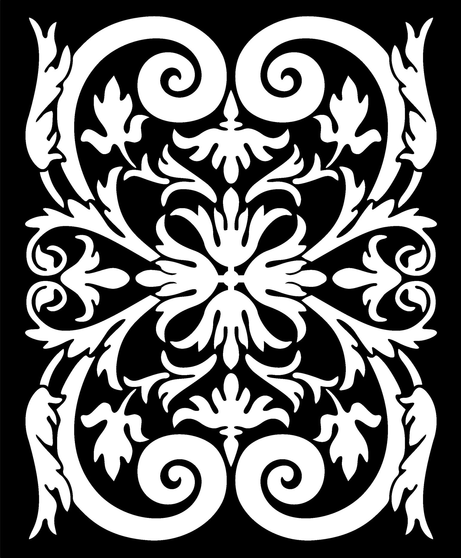 Decorative Screen Patterns For Laser Cutting 39 Free DXF File