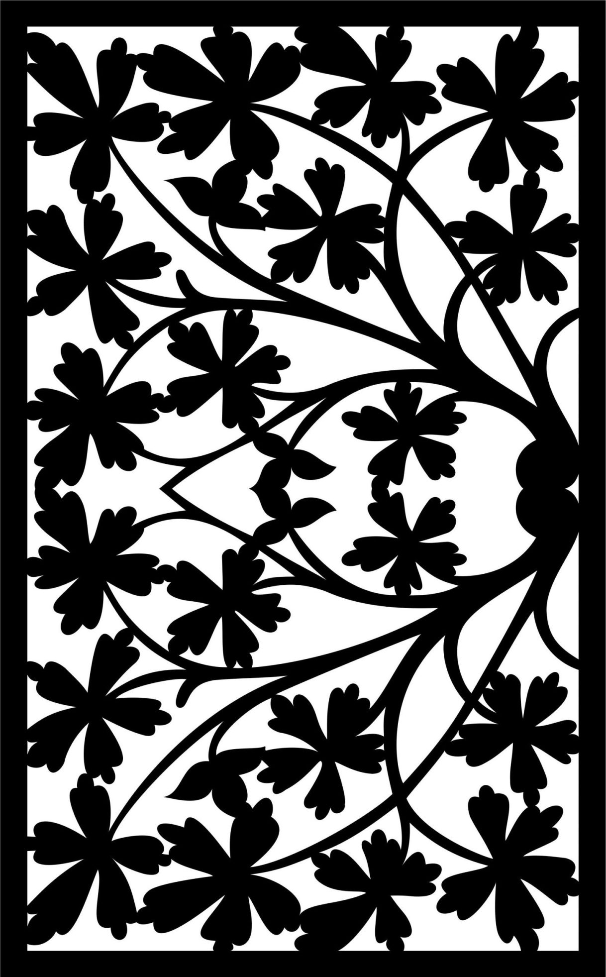 Decorative Screen Patterns For Laser Cutting 40 Free DXF File