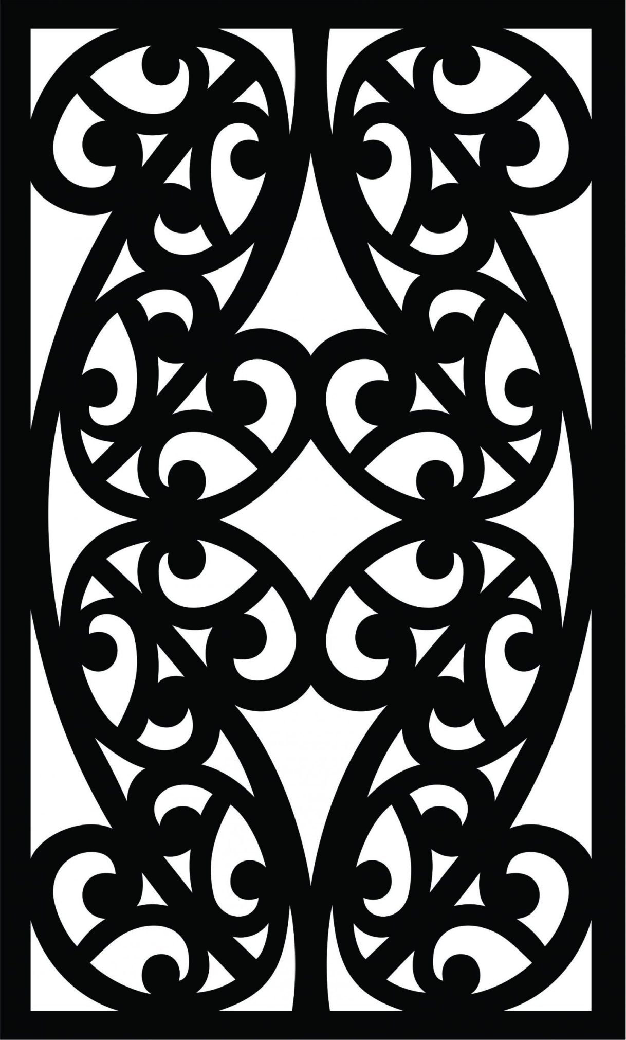 Decorative Screen Patterns For Laser Cutting 43 Free DXF File