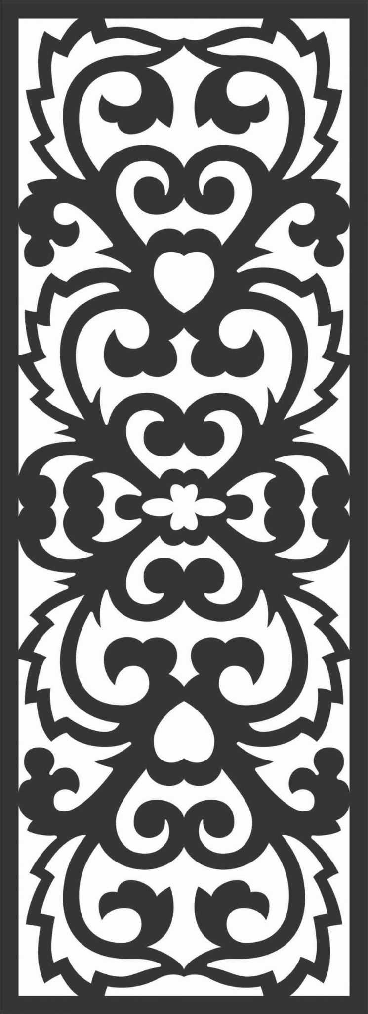 Decorative Screen Patterns For Laser Cutting 46 Free DXF File